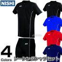 【NISHI】陸上ウェア T&Fレーシングシャツ クォータータイツ 上下セット N76-025/N76-55[ネーム加工対応] ランニングシャツ ランニングパンツ ランニングタイツ ランニングスーツ