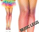 MusicLegs(ミュージックレッグ) レインボーグラデーションダイアモンド網タイツ/ストッキング 39417 派手 カラフル ダンス衣装 パーティー ダンサー コスチューム カラーラン ステージ衣装 コスプレ A156【メール便OK】