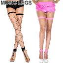 MusicLegs(ミュージックレッグス)トゥーリング ビッグダイアモンドネットフットレスストッキング/タイツ ML4800 ブラック ピンク サイハイ パーティー 網タイツ ダンス衣装 A913-A914