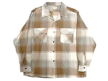★SALE 20%OFF★ GOWEST ゴーウェスト OUT OF BORDER SHIRTS/BIG CHECK アウトオブボーダー 半袖シャツ チェック