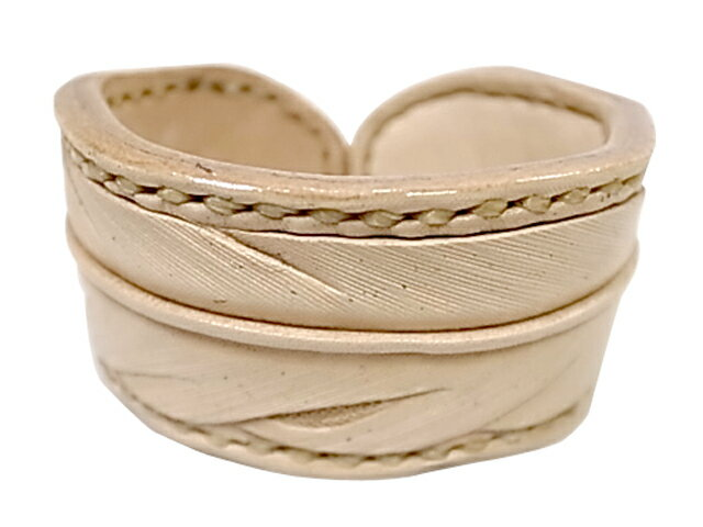 ★SALE 40%OFF★ Rocky Mountain Featherbed ロッキー マウンテン FEATHER LEATHER BANGLE フェザー レザー バングル 牛革 NATURAL MADE IN JAPAN