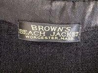 BROWN'SBEACHJACKETブラウンズビーチジャケットCOVERALL1STAGINGカバーオールファーストエイジングヴィンテージブラックVINTAGEBLACK