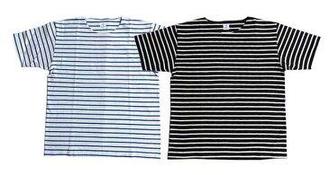 ANATOMICA アナトミカ MARNIER CREW NECK TEE S/S 854 2色(NATURAL/ROYAL・BLACK/NATURAL) マルニエ ボーダー クルーネック Tシャツ MENS メンズ LADY'S レディース