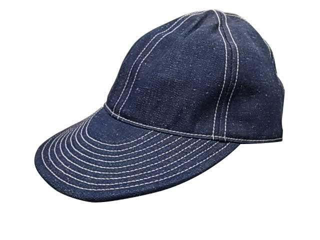 メンズ帽子, キャップ Nigel Cabourn LYBRO ACC-51 MECHANICS CAP JP DENIM 1-206 INDIGO 2018