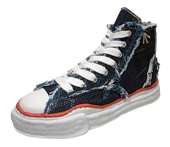メンズ靴, スニーカー SALE 20OFF Nigel Cabourn Marson MIHARA YASUHIRO HIGH CUT ONE WASH DENIM SNEAKER 1-206 INDIGO MENS LADYS
