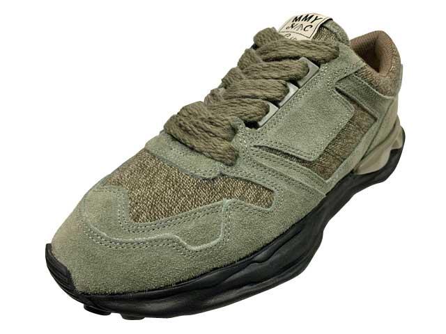 メンズ靴, スニーカー Nigel Cabourn Marson MIHARA YASUHIRO RUNNING TRAINER -MILITARY 1-190 GREEN LOW CUT MENS LADYS