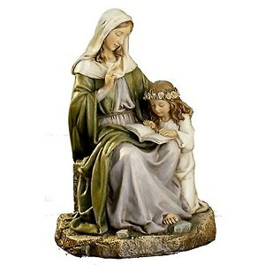 Virgin Mary and St. Renaissance Statue Western Sculpture Height approx. 18 cm / Joseph Studio Saint Anne with Mary (Import