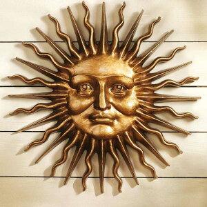 斯隆广场公园的太阳(人类的太阳)格林曼墙雕塑西欧风格的室内装饰现代物体装饰(进口)