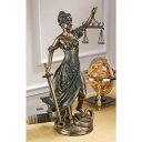 高さ 約55cm 正義の女神テミス彫像; 法律の正義を象徴す...