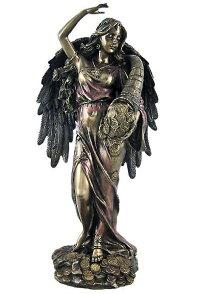 運命の女神フォルトゥナブロンズ風彫像/BronzeFortunaRomanGoddessOfFortuneStatueTykhe(輸入品