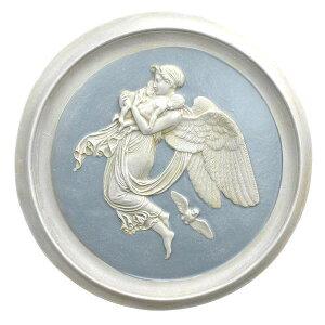 夜の天使 壁掛け円形レリーフ彫刻 西洋インテリア雑貨 彫像/ Night Angel Roundel Wall Plaques (輸入品