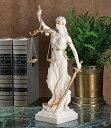 正義の女神テミス彫像; 法律の正義を象徴する彫像、大理石風キ...