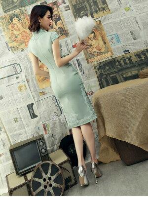 [Romance衣装]365日配送メール便1枚送料無料忘年会チャイナドレス服コスプレチェック柄のチャイナドレスミニチャイナドレス綿半袖ハロウィンS〜XXL大きサイズもありあす楽格子