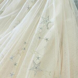 即納2重検品4色マキシスカートフレアスカート大星柄ロングチュールスカートスカートロング黒グレーベージュ