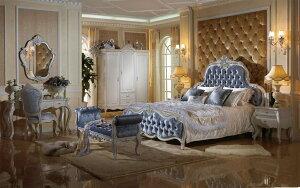 (1800×2000mm以下マットレス対応)プリンセス・お姫様・姫系・ロココ調・高級彫刻付きベッド(マットレス別売)