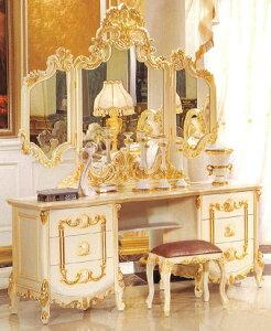 ロココ調・ROCOCO調・プリンセス家具 ロココ調・高級彫刻付きドレッサー