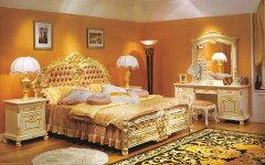 ロココ調・ROCOCO調・プリンセス家具ロココ調・高級彫刻付きベッド
