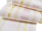浴衣帯博多帯夏本場筑前博多細帯浴衣単帯浴衣帯白桜色山吹色現品限りe533r