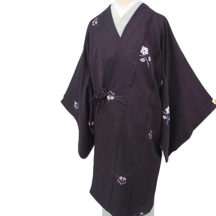 【レンタル】 和装 コート 着物 貸衣装 道中着 正絹 絞り染め カジュアル 桔梗 色無地 小紋 に合う 紫 Mサイズ 送料無料 一部地域を除く co0038r