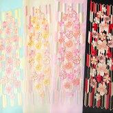 半衿振袖刺繍半襟成人式日本製桜矢羽根金糸塩瀬風華やか水色ベージュピンク黒c741r