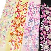 半衿振袖刺繍藤桜半襟クリーム色桜色黒金k754r