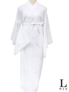 夏 ワンピース 長襦袢ワンピース 半衿付 高島クレープ 和装下着 インナー 日本製 洗える 木綿 絽 白地 Lサイズ m756  TSi