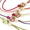振袖帯締めつまみ細工花飾り帯〆成人式振袖小物可愛い華やか和装小物ピンク白黒紫赤緑W078281k874