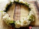 【ヘッドドレス】花冠 はなかんむり 結婚式 花かんむり ウエディング ...
