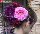 \クーポン配布中/髪飾り6点セット浴衣や着物の和装に。結婚式(ウェディング)のヘッドドレス ヘアコサージュ、成人式 前撮りの髪かざり かみかざりに。誕生日や結婚祝いのプレゼント にも。ヘアアクセサリー着物 振袖 袴 成人式の前撮 夏祭り 花火大会の和風 浴衣 2way
