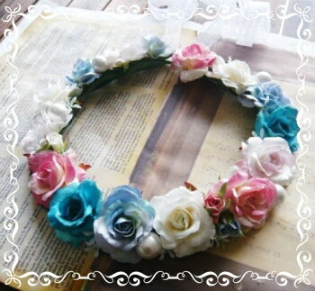 花冠ドレスミックス高級造花薔薇造花通販シルクフラワー