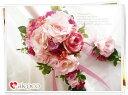 ピンクミックスが可愛いブーケセット ブーケ/ウエディングブーケ/ブーケ/ウエディングブーケ+新郎ブートニア セット。可愛いブーケ 誕生日 プレゼント 女性 花束 ウェディングブーケ ホワイト ピンク 結婚式 花かんむり 花冠 造花ブーケ プレゼント 贈り物