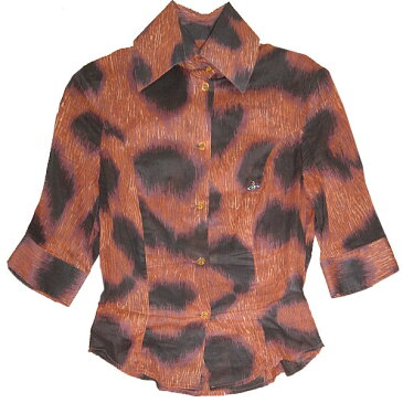 Vivienne Westwood Leopard Blouse ヴィヴィアン ウエストウッド 豹柄 レオパード ブラウス シャツ トップス【中古】【RCP】【ロマンチックノイローゼ 楽天市場店】