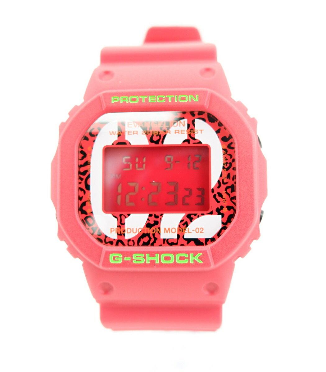 腕時計, メンズ腕時計 G-SHOCK EVANGELION DW-5600 EVA02 THE BEAST MODEL feat. RADIOEVA CASIO