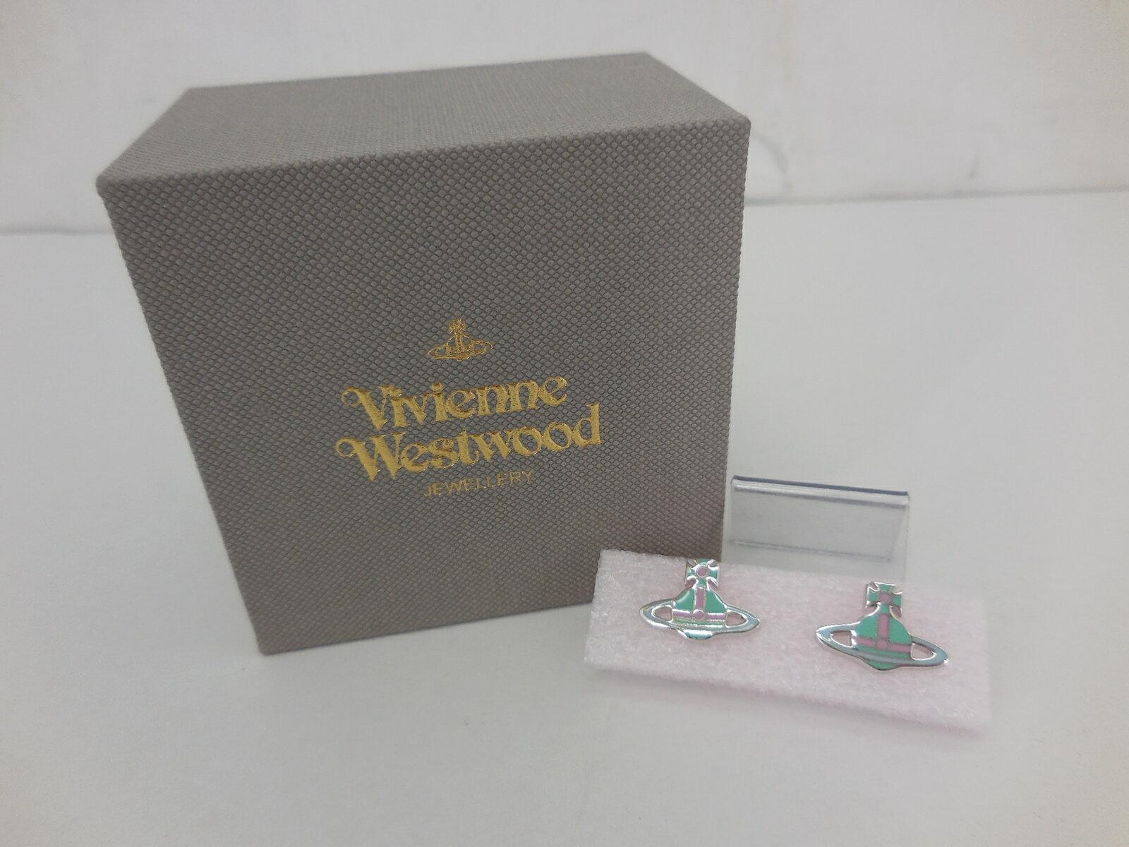 【値下げしました】Vivienne Westwood ケイト ピアス ヴィヴィアンウエストウッド グリーン×ピンク