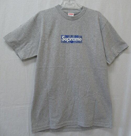 トップス, Tシャツ・カットソー Supreme 19AWBandana Box Logo Tee T Size:S Heather Grey