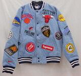 Supreme×NIKE×NBA Teams 18SSシュプリーム×ナイキ Warm up jacketデニム Size:S 未使用