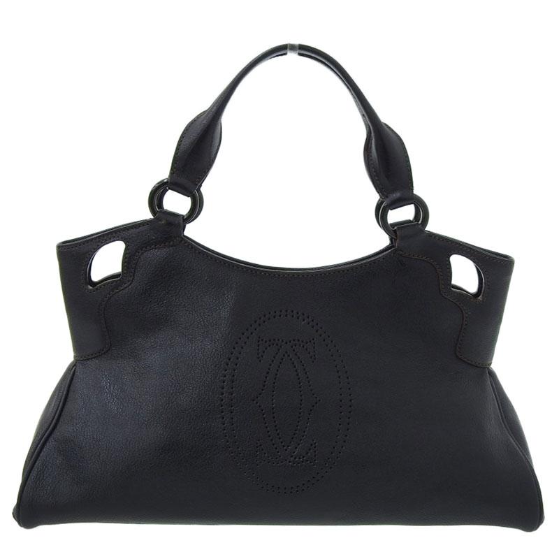 產品詳細資料,日本Yahoo代標|日本代購|日本批發-ibuy99|包包、服飾|包|女士包|手提包|【中古】 カルティエ CARTIER マルチェロ ハンドバッグ レザー ブラック バッグ 新入荷 …