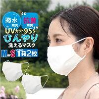 冷感 マスク 夏用マスク 2層式 抗菌 1箱2枚 UVカット 95.2% 接触冷感 マスク 小さめ orレギュラー マスク 冷感 ひんやり マスク 個包装 立体 ノーズワイヤー 在庫あり 3営業日以内発送 返品不可