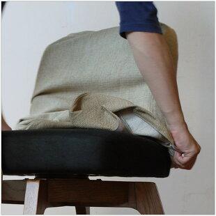 スピン回転ダイニングチェア北欧ナチュラルデザインクッション性の高い回転椅子カバーリング回転イス木製脚オーク無垢材回転チェアー新生活