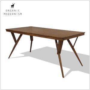 | Fons dining table | W170cm ダイニングテーブル ウォールナット突板+無垢材 有機的でモ...