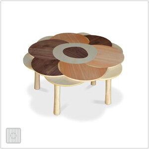 | lururira | 87×92cm こたつ ウォールナット、バーチ、メープル かわいいお花のテーブル...