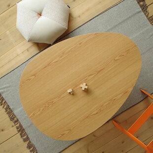 ・ヒーターなしこたつテーブル・Tamago110cmナラ/ブラックチェリー・北欧風ナチュラルテイスト・座卓ちゃぶ台ローテーブル・おしゃれな家具調人気のたまご型・木製DENBYロングセラーたまごおしゃれ