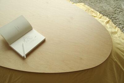・ヒーターなしこたつテーブル・Tamago110ナラブラックチェリーウォールナット・北欧ナチュラルテイスト・座卓和モダンちゃぶ台円卓ローテーブル・おしゃれな家具調人気のたまご型・木製DENBYロングセラーたまごおしゃれ