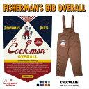 クックマン COOKMAN フィッシャーマンズ ビブ オーバーオール チョコレート ブラウン Fisherman's Bib Overall Chocolate 231-01869 ストリート アメカジ ブランド メンズ 送料無料・・・