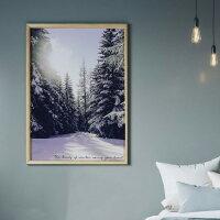 【50x70】【A3/29.7x42cm】ポスター北欧DesignRail【FrozenForest】雪景色フローズンフォレストおしゃれインテリアモノトーン