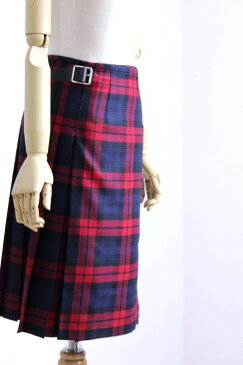 【SALE 30%OFF】O'NEIL of DUBLIN(オニールオブダブリン) WORSTED WOOL 100% ラップスカート #124/60cm TARTAN 4color 2018'A/W【Lady's】