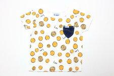 Lee(リー)×StompStamp(ストンプスタンプ)オレンジ柄半袖Tシャツ【オレンジ】【9184359】【80-140cm】