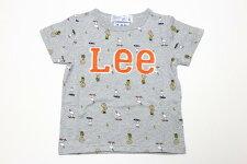 Lee(リー)×PEANUTS(ピーナッツ)スヌーピー半袖Tシャツ【グレー】【9234307】【80-140cm】