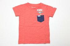 Lee(リー)×PEANUTS(ピーナッツ)スヌーピーサーフポケット半袖Tシャツ【ピンク】【9384327】【80-140cm】