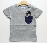 Lee(リー)×ドラゴンボール悟空Tシャツ【グレー】【9824505】【80-120cm】